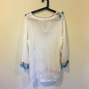 Bindya Swim - Bindya boho tassels long sleeve tunic coverup